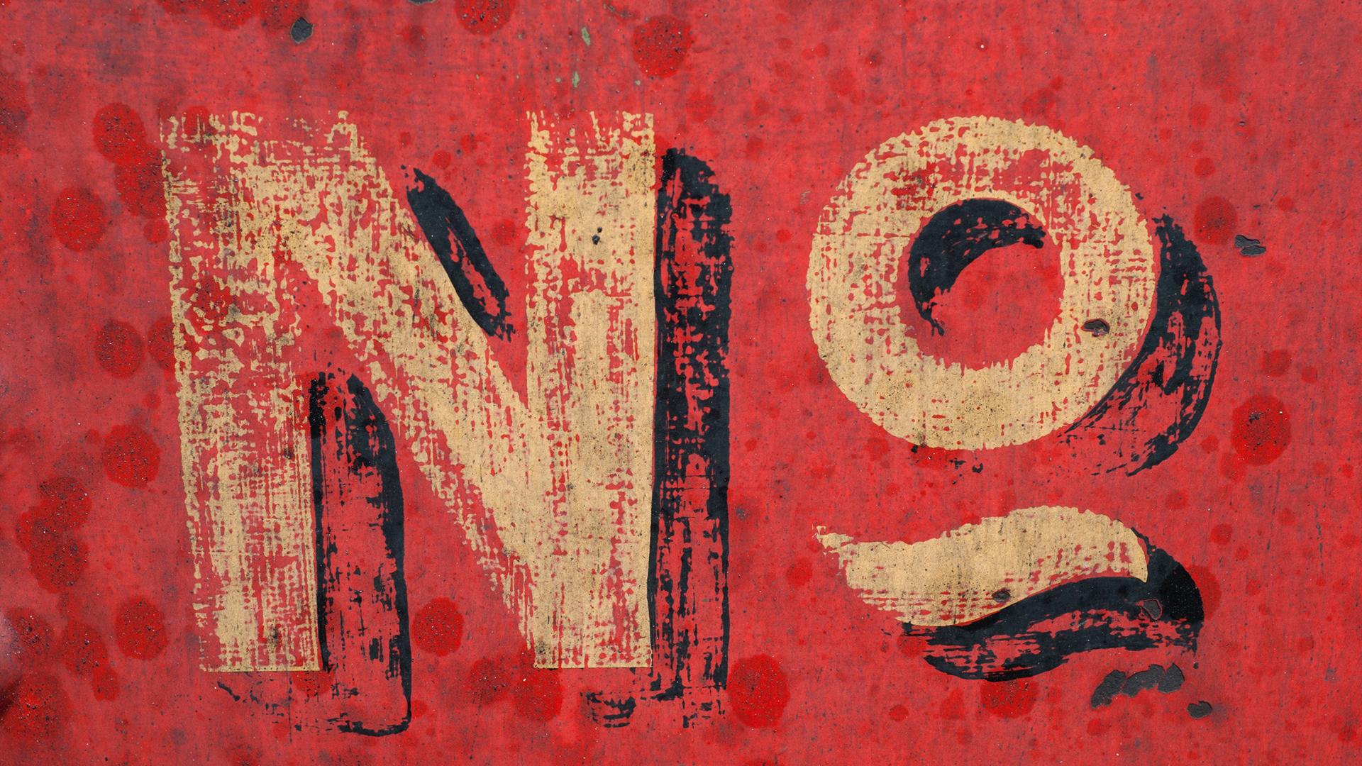 The Faith to Say No